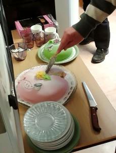 Tårta vid det avslutande styrelsemötet med Övre Norrlands distrikts styrelse